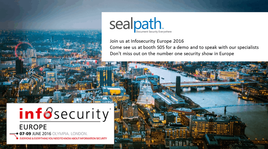Join us at Infosecurity Europe 2016!